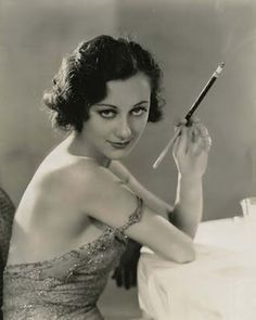 """Ann Dvorak. An actress of that magical time before """"the code."""" She played, molls, addicts, martyrs, and tough cookies to end all tough cookies. She shoots it out with the cops in """"Scarface"""" and flings herself out a window with a note written on her nightgown in lipstick. vintag, happy birthdays, films, femme fatale, ann dvorak, actress, film noir, smoke, pin up girls"""