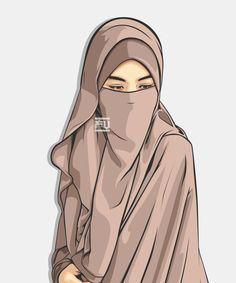 Niqab is my choices Beautiful Muslim Women, Beautiful Hijab, Hijabi Girl, Girl Hijab, Hijab Drawing, Niqab Fashion, Fashion Boots, Islamic Cartoon, Hijab Cartoon