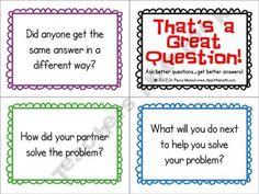 Math higher level thinking questions freebie from teacher notebook seller Teach-the-math