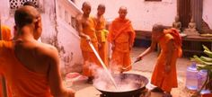 Volunteer with Buddhist Novice Monks in Laos teaching English  | GVI USA