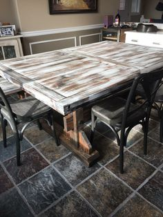 Farm Table, Benches, Wood, Reclaimed Wood, Custom, Handmade, White Wash