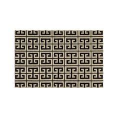 Momeni Dhurry Laguna Geometric Wool Rug, Black