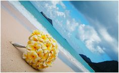 Yellow plumeria bouquet
