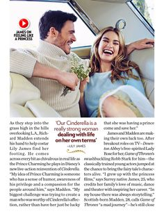 Lily James and Richard Madden for People Magazine (March 2015)