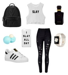 """School "" by ximenaordonez9 on Polyvore featuring WithChic, adidas Originals, Keiko Mecheri and River Island"