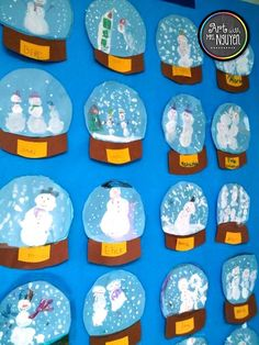 Fun and engaging art lessons and classroom management ideas by elementary art teacher Melinda Nguyen.Fun and engaging art lessons and classroom management ideas by elementary art teacher Melinda Nguyen. Winter Art Projects, Winter Crafts For Kids, Projects For Kids, Art Projects For Kindergarteners, Diy Projects, Christmas Art Projects, Kindergarten Art Projects, Winter Kids, Spring Crafts