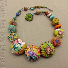 embroidered beads