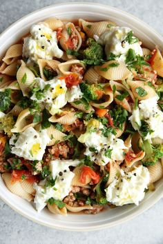 Sausage and Broccoli Ragu with Shells and Burrata: no shells extra broccoli/ zoodles