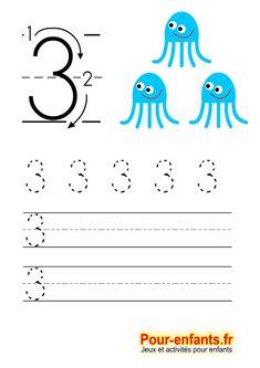 Apprendre crire les chiffres en maternelle gratuit cahier d 39 criture imprimer gratuitement - Chiffre a imprimer gratuit ...