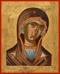 "Russian Orthodox icon Mother of God ""Deisis"" Greek Icons, Small Icons, Russian Orthodox, Orthodox Icons, Russian Art, Sacred Art, Christian Art, 17th Century, Crete"