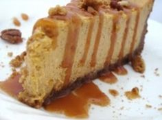 OMG! Pumpkin Cheesecake with Gingersnap-py Crust & Salted Caramel Sauce...