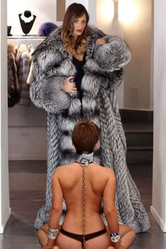 Mistress in fur coat