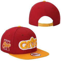 Cleveland Cavaliers New Era Primary Fan Redux Original Fit 9FIFTY Adjustable Hat - Cardinal