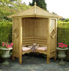 Shire The Heritage Corner Arbour - Pressure Treated - OFFER ENDS Friday 19th September