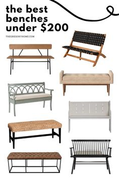 Versatile benches for your entryway, bedroom, living room or dining room! Dining Bench, Dining Room, Put On Your Shoes, Extra Seating, Benches, Entryway, House Design, Good Things, Bedroom