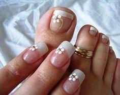Uñas decoradas de los pies. Parte II