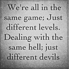 Same game , same devils , just different levels of perception !