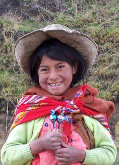 Sweet quechua girl. Cajamarca, Peru.