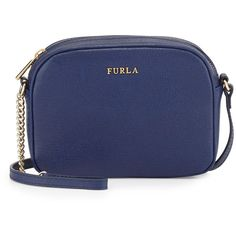 See this and similar Furla shoulder bags - Miky Mini Leather Crossbody Bag, Navy Details Furla saffiano leather crossbody bag with golden hardware. Adjustable c...