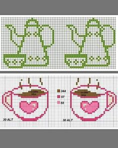 This Pin was discovered by Hic Kawaii Cross Stitch, Cross Stitch Heart, Cross Stitch Borders, Cross Stitch Designs, Cross Stitching, Cross Stitch Patterns, Crochet Patterns, Christmas Embroidery Patterns, Embroidery Applique