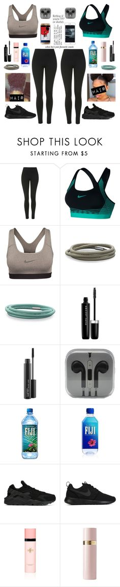 """When you workout with Amari"" by ahriraine ❤ liked on Polyvore featuring Topshop, NIKE, BillyTheTree, Samsung, Marc Jacobs, MAC Cosmetics, Yves Saint Laurent and Valentino"