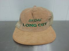 2f1b1a0be719c Retro Skoal Long Cut Chewing Tobacco Vintage Trucker Snapback Hat Corduroy  and Mesh Dad Hat