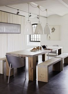 Perfect dining area idea for Sunday lunches. Emmas designblogg - design and style from a scandinavian perspective
