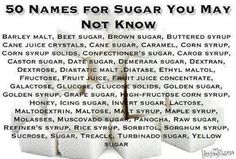 Other names for sugar