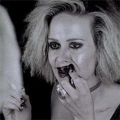 AHS: Hotel - Hypodermic Sally. Sarah Paulson is such a great actress, I think Sally is my favorite character this season
