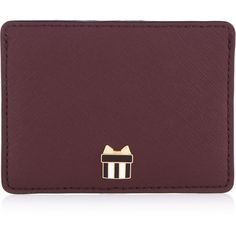 Henri Bendel West 57th Card Case ($38) ❤ liked on Polyvore featuring bags, wallets, burgundy, henri bendel, card case wallet, saffiano leather bag, henri bendel wallet and credit card holder wallet