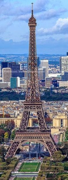 Eiffel Tower and La Defense from Montparnasse