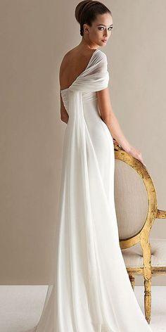 18 Best Of Greek Wedding Dresses For Glamorous Bride ❤ Timeless classics - this is called greek wedding dresses. See more: http://www.weddingforward.com/greek-wedding-dresses/ #wedding #dresses