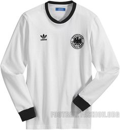 Germany adidas Originals 1974 Home Football Shirt   Soccer Jersey   Trikot  Camisas De Futbol 6e3da7267bdff