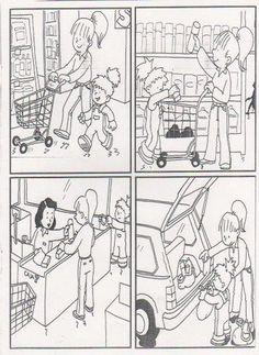 Wat is de goede volgorde?, thema winkel / SECUENCIAS TEMPORALES