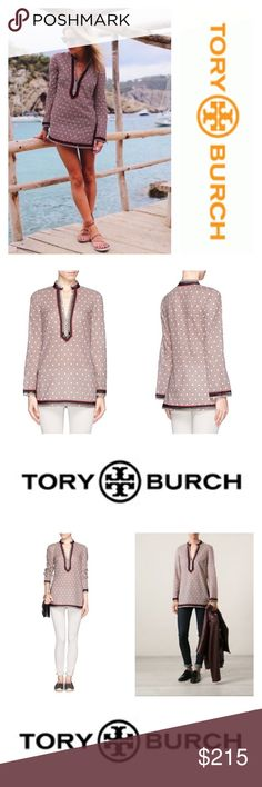 Tory Tunic Tory Butch Tory Tunic  NWT Size 14 Color/Pattern Desert Sand Dotted Squares  Comes with original plastic dust bag and hanger  🌀Check out my closet for similar styles from other brands at different price points🌀  💰Price is firm💰 🌸reasonable offers considered🌸  🐾pet friendlly home🐾 🚫no trades🚫 Tory Burch Tops Tunics