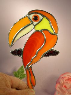 Stained Glass Toucan Bird by StainedGlassbyWalter on Etsy
