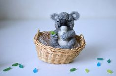 Hey, I found this really awesome Etsy listing at https://www.etsy.com/listing/220069984/needle-felted-little-sleeping-koala-tiny
