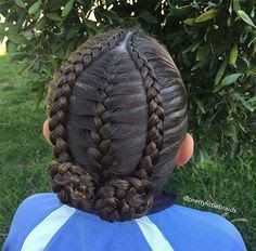 Inspired by my sweet friend Tam over at today! Inspired by my sweet friend Tam over at @ Lil Girl Hairstyles, Braided Hairstyles, 1980s Hairstyles, Ethnic Hairstyles, Black Hairstyles, Gymnastics Hair, Curly Hair Styles, Natural Hair Styles, Girl Hair Dos