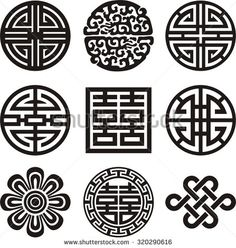 Korean traditional symbol vector image - stock vector