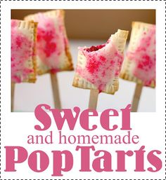 Homemade PopTarts-Fun Party Food-plus the kids can  help make them.  Get the recipe and tutorial