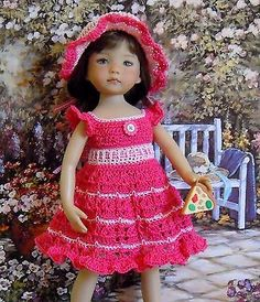 "SALE! ~RASPBERRY RIPPLE ~  for 13"" Dianna Effner Studio's Little Darlings Dolls"