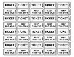 Free Printable Tickets  Creative    Printable Tickets