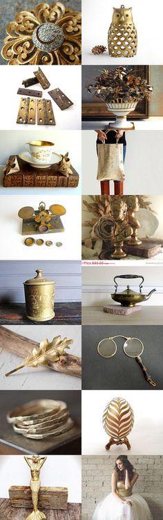 Golden by Beatriz McDavid on Etsy--Pinned with TreasuryPin.com