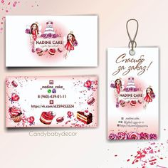 Cake Business, Business Card Design, Business Cards, Cake Logo, Candy Shop, Makeup Organization, Lettering Design, Gold Makeup Looks, Makeup Art