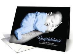 Custom New Baby Congratulations It's a Boy! card