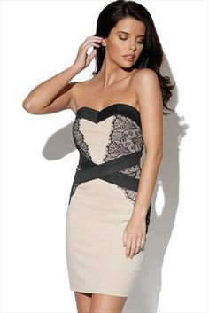 Just had to pin this Little Mistress Nude and Black Lace Dress from www.vestryonline.com
