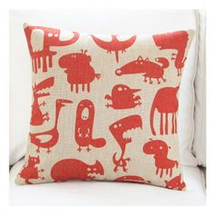 Cartoon red printed pillow decorative pillows for sofa