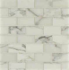 Polished Calacatta Gold Subway Tile - a great alternative to Carrara Marble tile if you're looking for a white marble that's a little warmer and less gray. Works well as a kitchen backsplash or as bathroom wall tile. Condo Kitchen, Kitchen And Bath, Kitchen Remodel, Bath Remodel, Calacatta Tile, Carrara Marble, Marble Tiles, Tile Mosaics, Wall Tiles