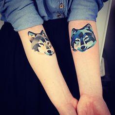 20 Idées de tatouage loup
