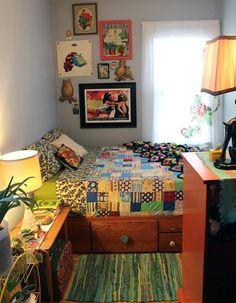 dorm room arrangement